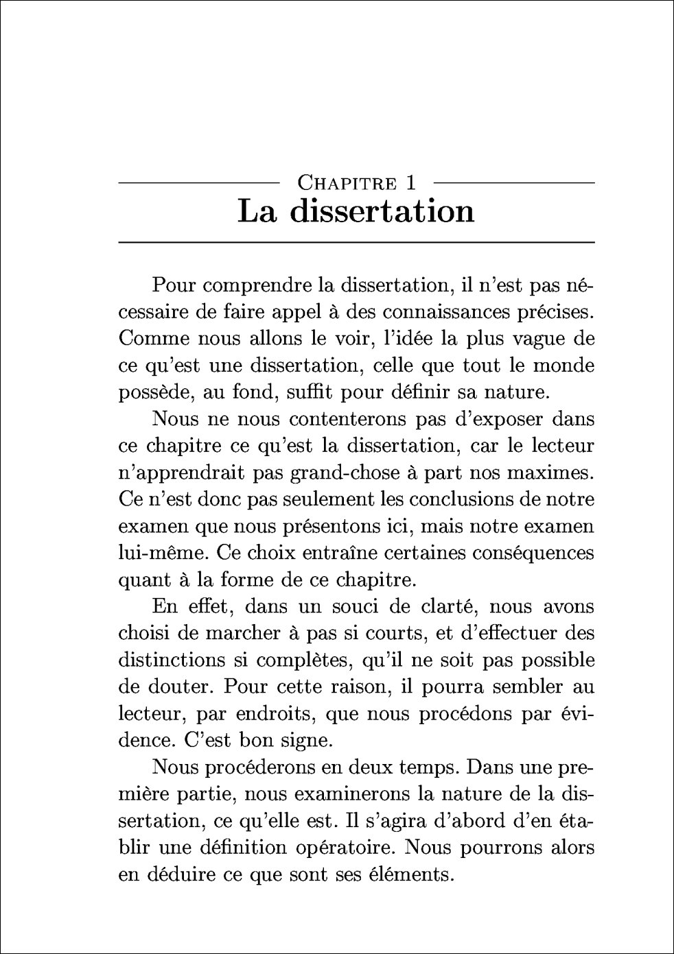 Exemple de Dissertation Philosophique